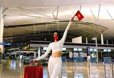 Miss Vietnam tuvo que viajar más de un día para llegar a la sede del evento