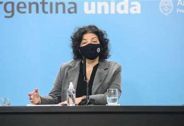 Carla Vizzotti es ministra de Salud de Argentina. Foto: Internet