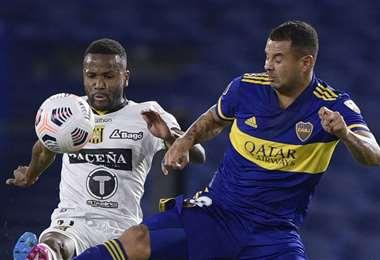 Boca viene de ganarle a The Strongest por la Copa Libertadores. Foto: AFP