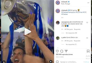 Captura de pantalla del video que publicó el Chelsea en Instagram