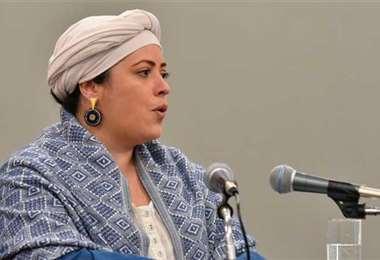 Foto: Ministra de la presidencia, María Nela Prada