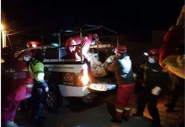 La Policía retiró los cuerpos de los menores