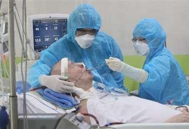 Paciente crítico por Covid-19. Foto: El Deber
