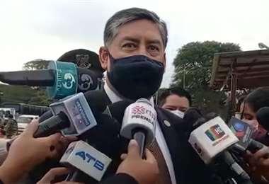 El fiscal general, Juan Lanchipa.