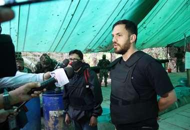 El ministro Del Castillo en un operativo antidroga. Foto: Ministerio de Gobierno