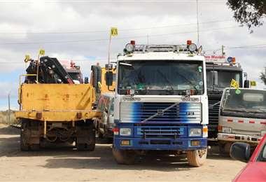 Los motorizados decomisados en Potosí. Foto: Aduana Nacional