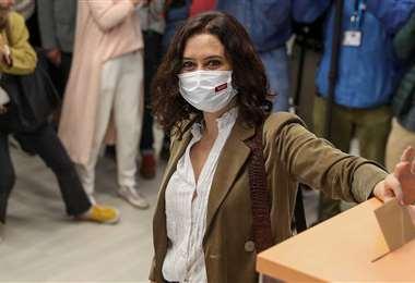 La candidata Isabel Díaz Ayuso