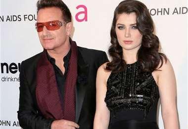 Bono y su hija Eve Hewson en un evento