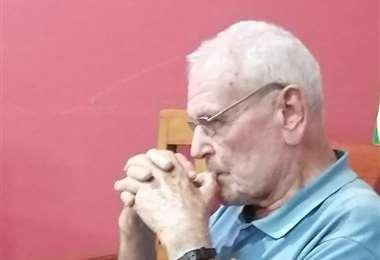Hubert Fleidl, sacerdote franciscano. Foto. Limbert Cambará