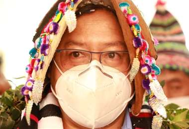 El Presidente Luis Arce y la vestimenta de los T'inkus de Macha (Foto: Oficial)