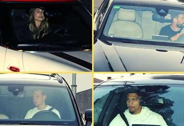 Jugadores del Barcelona fueron fotografiados saliendo de la casa de Messi. Foto: Internet