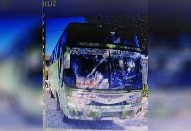 El bus recuperado por Diprove