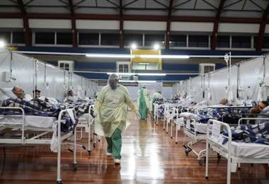Hospitales con camas ocupadas en Ecuador
