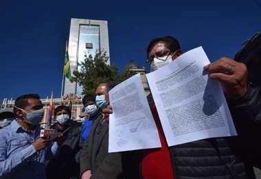 En La Paz, se declaran en emergencia por el tema de las AFP (Foto: APG)