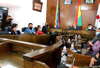 La sesión en el Concejo Municipal I Facebook.