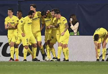 Villarreal ganó la semifinal de ida. Foto: AFP