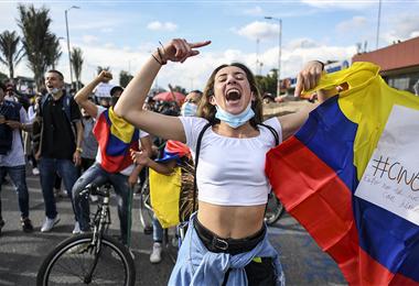Las protestas son constantes en Colombia desde el mes pasado. Foto. AFP