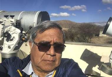 Director del Observatorio de Santa Ana, Rodolfo Zalles