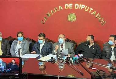 La conferencia de prensa de CC I prensa Comunidad Ciudadana.