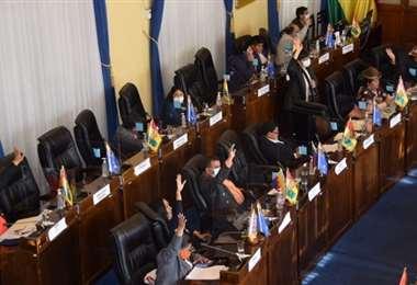 Las sesión de la Cámara Alta I Senado.