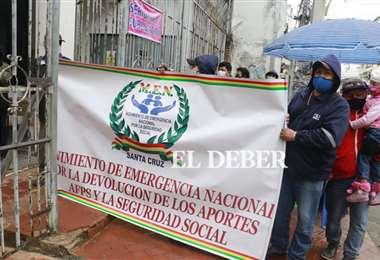 Los aportantes a las AFP piden la devolución de los mismos (Foto: Juan Carlos Torrejón)
