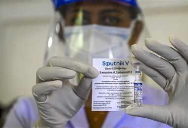 Vacuna rusa contra el covid. Foto AFP