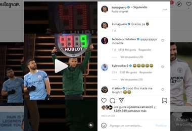 Captura de pantalla del video que publicó Agüero en Instagram