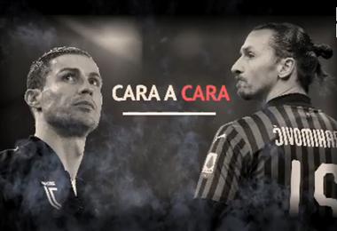 Cristiano Ronaldo (Juventus) e Ibrahimovic (Milan) estarán cara a cara el domingo.