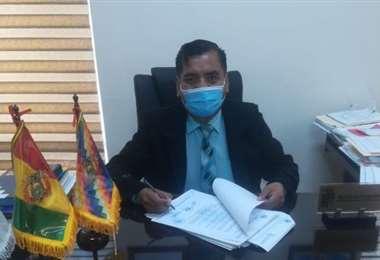 Edwin Huayllani, director departamental de educación. Foto. J. Delgadillo