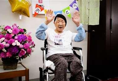 Kane Tanaka, anciana de 118 años que no portará la antorcha olímpica por la pandemia.