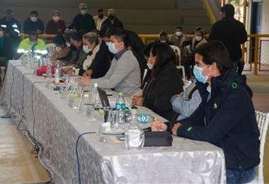 La sesión del Consejo Municipal se la realizó en Montero Hoyos