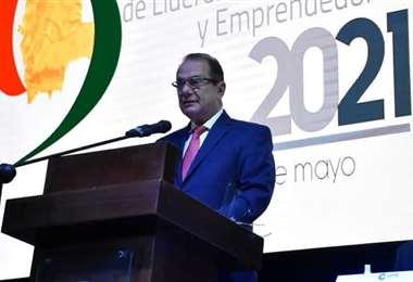 Luis Barbery, presidente de empresarios privados de Bolivia. Foto. APG