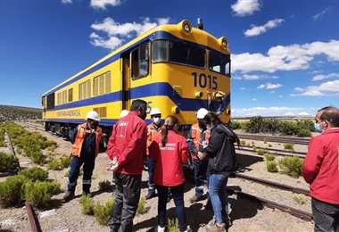 El arribo del tren I Ferroviaria Andina.