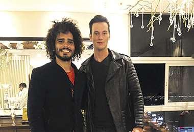 Amigos. Ryann Gusmao y Nicolás Malpartida