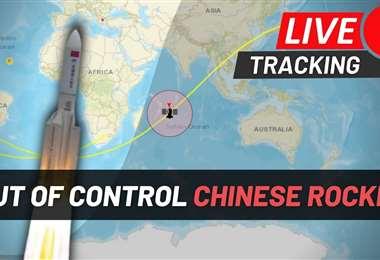 En Directo. Trayectoria del cohete chino