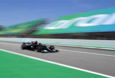 Lewis Hamilton, piloto británico del equipo Mercedes. Foto: AFP