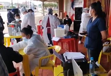 La vacunación en Riberalta I Captura.