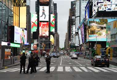 La zona de Time Square ha desmejorado desde la pandemia con el cierre de varios locales