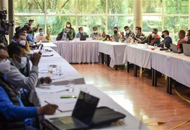 La reunión entre autoridades de La Paz I AMN.