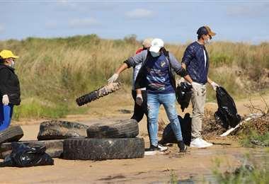 Cerca de 150 personas trabajaron en el recojo de residuos Fotos: Gobernación