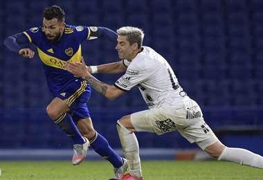 Boca fue segundo en el grupo C, en el que también jugó The Strongest. Foto: AFP