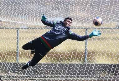 Javier Rojas, arquero de la selección nacional. Foto: FBF