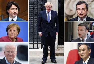 Los líderes de Canadá, Francia, Alemania, Italia, Japón, Reino Unido y Estados Unidos
