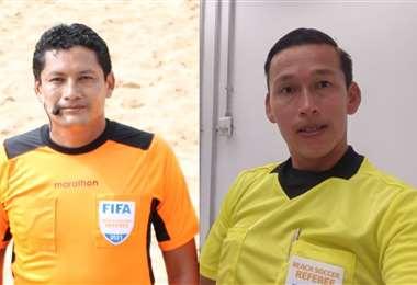 Jaimito Suárez (izq.) y José Luis Mendoza arbitrarán en Río de Janeiro. Fotos: Internet