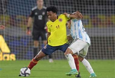 Cuadrado, figura de la selección colombiana. Foto. AFP