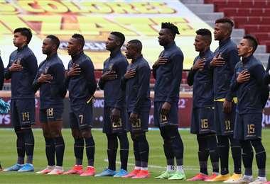 Ecuador perdió (1-2) el miércoles contra Perú de local. Foto: AFP