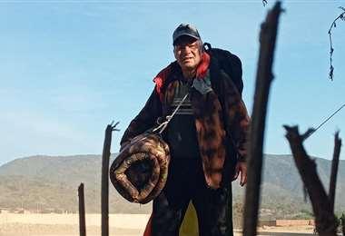 Gonzalo Melgar, en su trayecto a La Paz