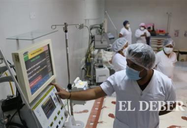 Una de las unidades de cuidados intensivos habilitadas por la alcaldía. Foto. J. Ibáñez