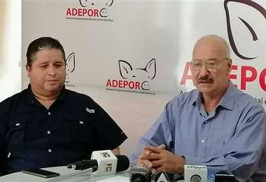 Directivos de Adepor en conferencia de prensa/Foto:Adepor
