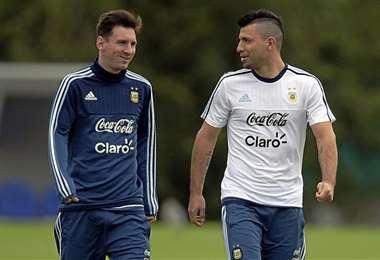 Messi y Agüero, delantero de la selección argentina. Foto: internet